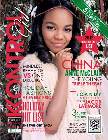 China Anne McClain on the cover of Kontrol Girl Magazine's 2012 Winter Issue