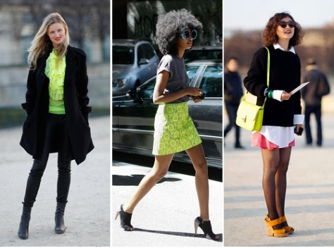 neon street style trend