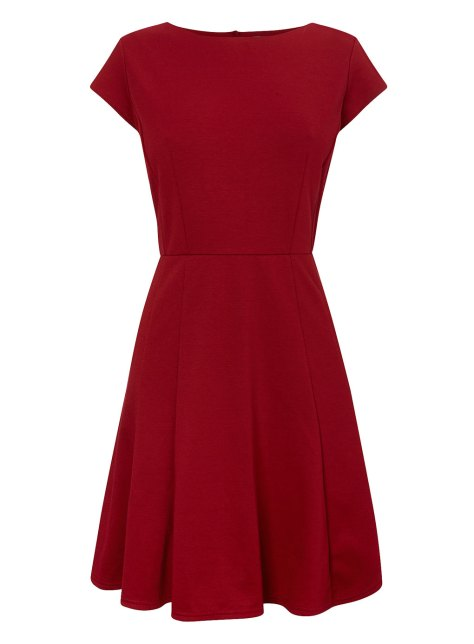 Red Flare Dress