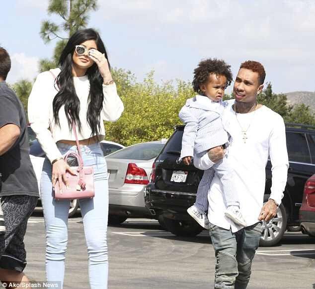 Tyga & His Son King Join Kylie & Family For Easter Church Service!