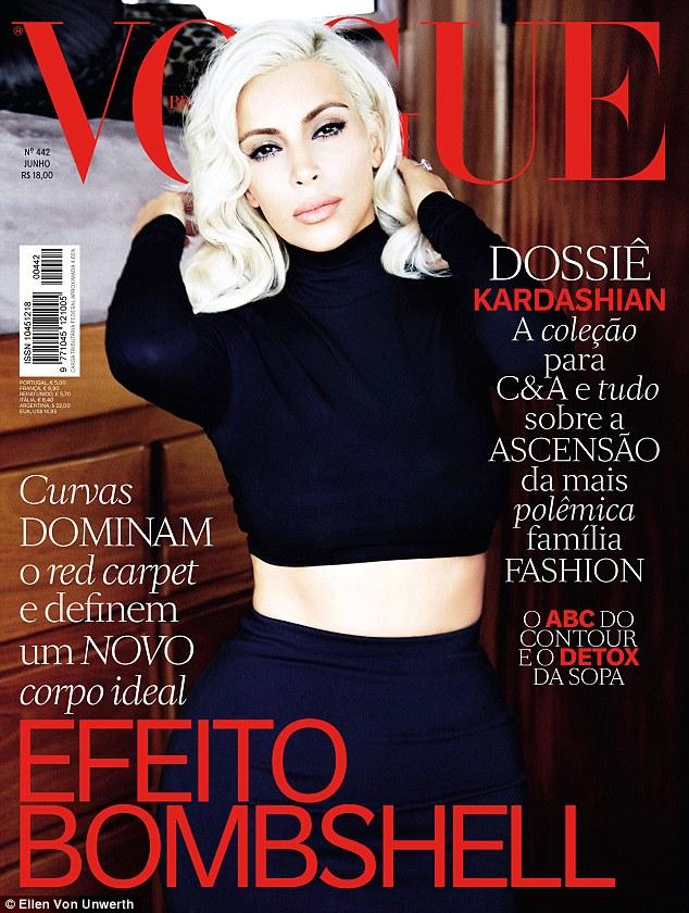 Kim Kardashian West Covers Vogue Brasil and Responds to Critics