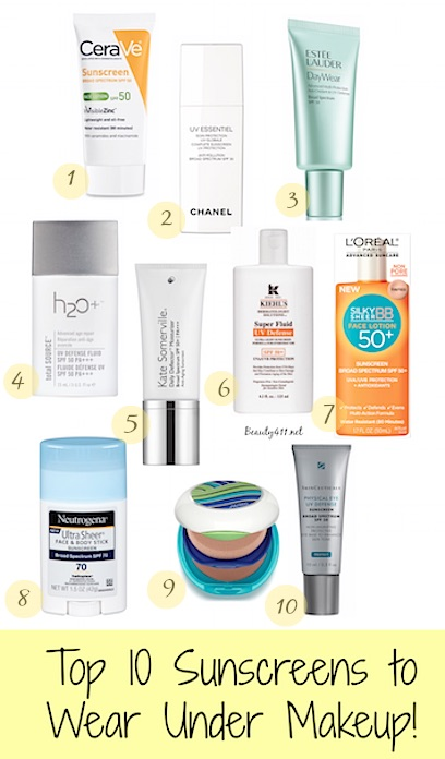 Top 10 Sunscreens to Wear Under Makeup