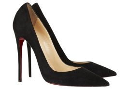 Black Suede Pumps, Christian Louboutin, $675