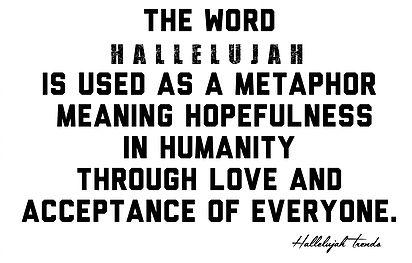 Hallelujah words