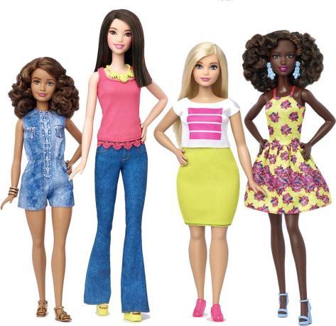 New Barbies, tall, petite