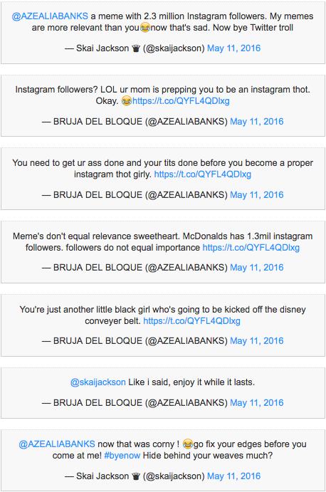 Twitter feud Banks Jackson