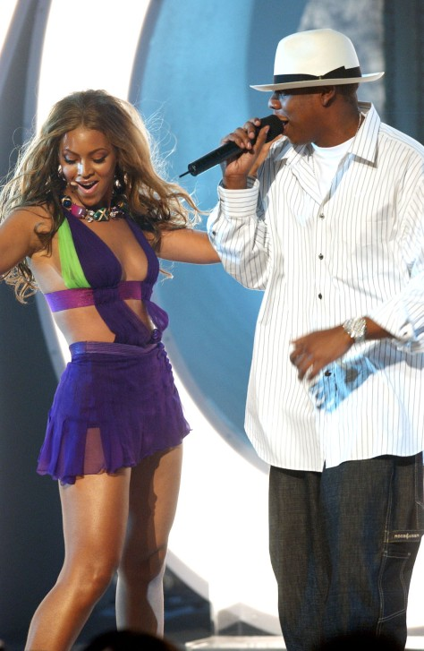 Beyonce performs with Jay-Z  (Photo by Steve Grayson/WireImage for BET Entertainment)