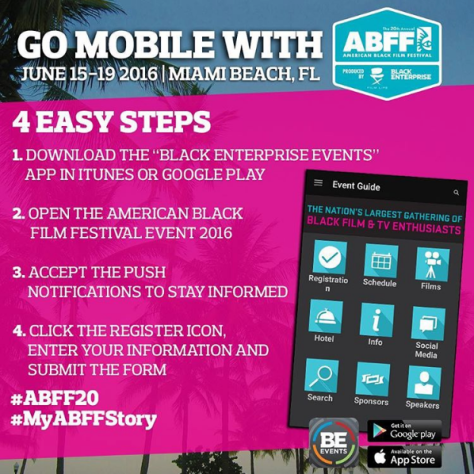 ABFF app, black film festival